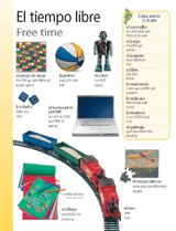 Free Time (El tiempo libre) themed vocabulary -- Use these vocabulary handouts to introduce students to the Spanish words for activities they do in their free time.     Get the printables from TeacherVision: http://www.teachervision.fen.com/spanish-language/printable/70417.html
