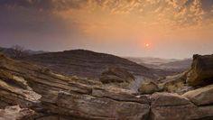 Região remota de deserto no norte da Namíbia.