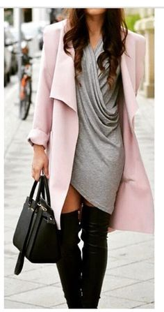 Daily fashion; pink coat