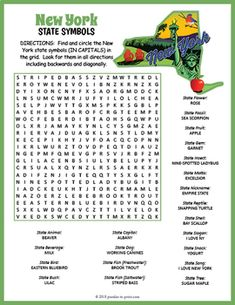 Free Printable New York City Word Search Great For A Big