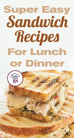 Try these great tasting easy sandwich recipes! They're perfect for any occasion. Feeding My Kid is filled with all the information you need about how to raise your kids, from healthy tips to nutritious recipes. Easy Sandwich Recipes, Lunch Recipes, Nutritious Meals, Lunch Ideas, Healthy Tips, Super Easy, Sandwiches, Oven, Dinner