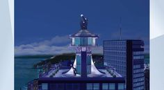 Check out this lot in The Sims 4 Gallery! - StarGazers #Restaurant  for #Rooftop #romance . This #modern restaurant has the best views of the night skys  , overlooking the #city  of #SanMyshuno Plz enjoy #gothkittymimi #nocc
