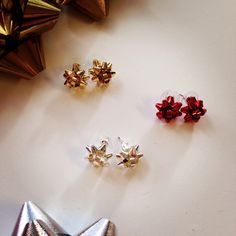 Holiday Bow Earrings Kate Spade Bourgeois Inspired