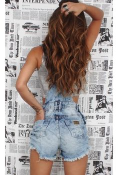 Jardineira Jeans Hot Trends - fashioncloset