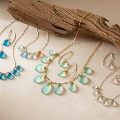 Sea Glass Necklace and Earrings | VivaTerra