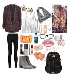 """""""School 67"""" by ella-goodness on Polyvore featuring Hollister Co., Donna Karan, Topshop, Gianvito Rossi, Christian Dior, NARS Cosmetics, Cartier, Ray-Ban, Kate Spade and MAC Cosmetics"""
