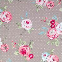 English Rose Taupe Matt Tablecloth