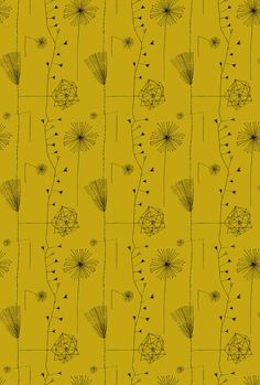 Dandelion clocks fabric design by Lucienne Day