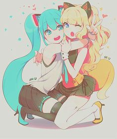 Miku and SeeU   vocaloid