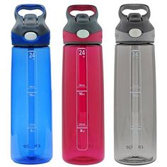 Contigo Autospout Addison Water Bottle 24oz  Monaco Sangria  Smoke 3 Pack * Check out the image by visiting the link.Note:It is affiliate link to Amazon.