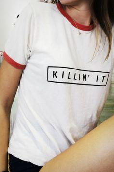 Brandy ♥ Melville | Nadine Killin It Top - Graphics