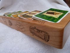 Etsy: Settlers of Catan Solid Cherry Card Holder G118 by PaulSzewc, $30.00