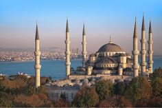 The Blue Mosque in Sultanahmet district of Istanbul. There's more to see in Istanbul than this amazing mosque. Kusadasi, Antalya, Sultan Ahmed Mosque, Capadocia, Blue Mosque, Pamukkale, Hagia Sophia, Grand Bazaar, Istanbul Turkey