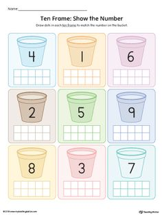 **FREE** Ten Frame: Show the Number Worksheet (Color) Worksheet.Practice identifying the value of a number using ten-frames. This printable activity is ideal for introducing number sense to preschoolers.