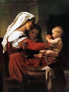 William Adolphe Bouguereau  - Maternal admiration