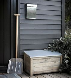 Wooden garden chest