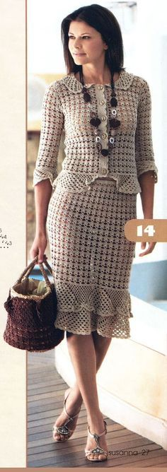 Chaqueta, falda y saco ..???? crocheted suit - pattern??? haven't checked