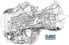 Rolls Royce RB211-535 Cutaway