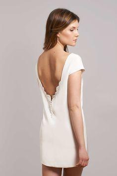 Robe de mariée Carter - Collection Civile - www.fabiennealagama.com #fabiennealagama#collectioncivile#robedemariee