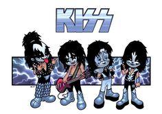 Extra stuff for arcana Lineart- ? Color- Me KIZZ Rock Band Posters, Rock Poster, Kizz Band, Rock N Roll, Banda Kiss, Kiss Group, Kiss World, Vintage Kiss, Kiss Art