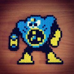 Air Man Mega Man 2 perler beads by skezatchi