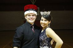 The 2016 Winter Homecoming is King David Ogas, representing Morenci High School Student Council, and Queen is Machela Alva, representing volleyball.