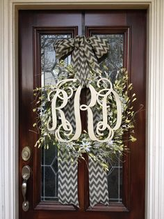 Easter/Spring monogram wreath