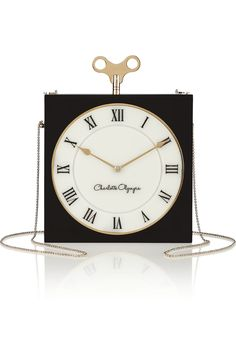 Charlotte Olympia Time Piece engraved Perspex matchbox clutch bag