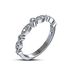 Round Cut Sim.Diamond Silver Plated New Design Wedding & Anniversary Band Ring #WeddingAnniversaryBand