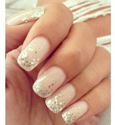 nail art designs with glitter & nail art designs ; nail art designs for spring ; nail art designs for winter ; nail art designs with glitter ; nail art designs with rhinestones Wedding Manicure, Wedding Nails Design, Wedding Makeup, Wedding Designs, Glitter Wedding Nails, Nails For Wedding, Wedding Nails For Bride Natural, Bridal Pedicure, Bridal Nail Art
