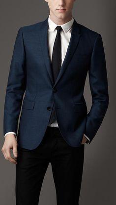 Modern geschnittenes Jackett aus Wolle und Seide | Burberry