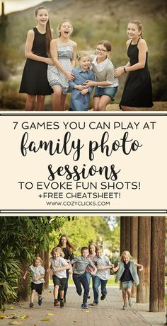 Photography tips on capturing natural smiles. Learn these 7 easy games to play at family photo sessions to spark some real emotion and great smiles! Great for new photographers #familyphotography