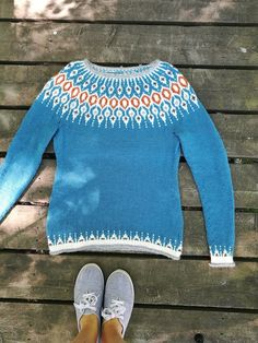 To receive your free pattern, add 3 patterns to your cart at the same time and the discount will apply before checkout. Fair Isle Knitting Patterns, Fair Isle Pattern, Knit Patterns, Norwegian Knitting, Icelandic Sweaters, I Cord, Knit In The Round, Knitting Yarn, What To Wear
