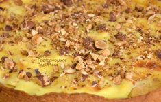 Τάρτα μήλου με κρέμα βανίλιας - cretangastronomy.gr Hawaiian Pizza, Desserts, Food, Pies, Tailgate Desserts, Deserts, Essen, Postres, Meals