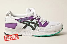 Preview: Asics Gel Lyte V: White, Purple & Green