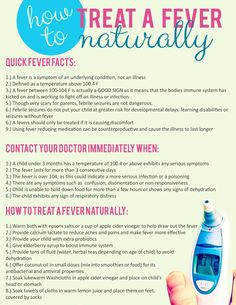 how to treat fever naturally printable