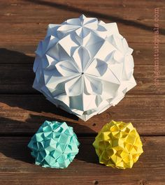 Sakuradama – Cherry Blossom Ball Kusudama by Tomoko Fuse | Origami Tutorials