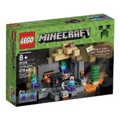 Venture into the Lego Minecraft The Dungeon on a perilous quest for valuable ores. Wield your pickaxe to defeat the roaming zombies, then mine the gold ore and grab the chest containing wheat and redstone. But watch out… zombies can spawn anywhere. Lego Minecraft, Minecraft Skins, Minecraft Buildings, Minecraft Gifts, Zombies, Lego Ninjago, Lego Duplo, Toys R Us, Kids Toys