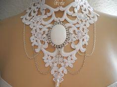 Brautschmuck - Collier*ANA-FREYA*Halsschmuck Spitze Braut - ein Designerstück von bluete-und-huete bei DaWanda
