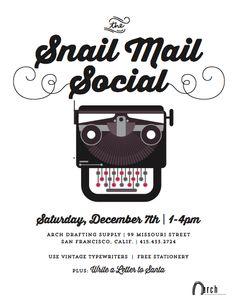 Saturday, December 7 - Snail Mail Social