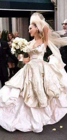 """Sex in the City: Carrie Bradshaw's """"almost"""" wedding.. Gown By Vivianne Westwood. Research By The House of Beccaria#"""