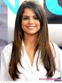 Selena Gomez Long Layered Hairstyle