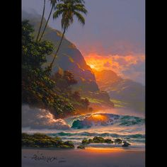 """Unframed Giclee on Canvas Image Size: 12"""" x 09"""" Artist Enhanced Editions are hand-enhanced."""