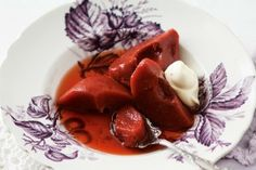 Slow-cooker poached cinnamon and vanilla quinces
