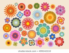 Find Vintage Flowers Part 4 stock images in HD and millions of other royalty-free stock photos, illustrations and vectors in the Shutterstock collection. Hippie Flower Tattoos, Hippie Flowers, 60s Patterns, Flower Patterns, Flower Designs, Free Vector Graphics, Free Vector Art, Fleur Design, Parts Of A Flower