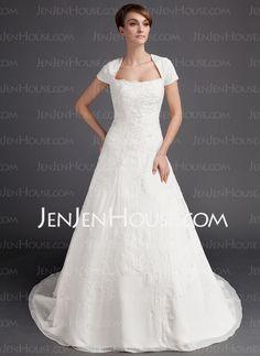 Deseret bogus' Wedding Dresses - $249.99 - A-Line/Princess Sweetheart Chapel Train Chiffon Wedding Dress With Embroidery Beadwork (002015904) http://jenjenhouse.com/A-Line-Princess-Sweetheart-Chapel-Train-Chiffon-Wedding-Dress-With-Embroidery-Beadwork-002015904-g15904
