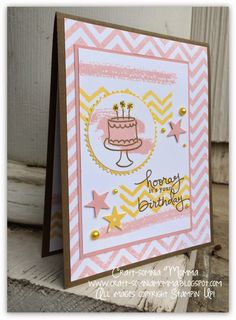 Stampin' Up! Endless Birthday Wishes photopolymer June Color Challenge