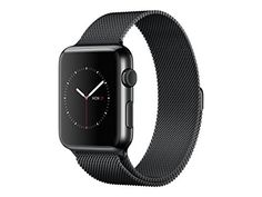 "cool Apple Watch 38 mm (1ª Generación) - Smartwatch iOS con caja de acero inoxidable en negro espacial (pantalla 1.32"", Apple S1 a 520 MHz, 8 GB, 512 MB RAM), correa Milanesse negra"