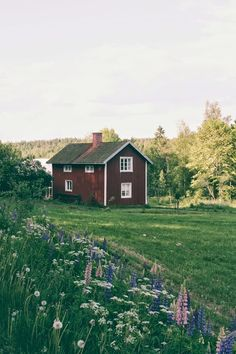 This looks like the house we stayed in Sweden and had the most fantastic holiday… summer garden – Outdoor Wedding Decorations 2019 Swedish Cottage, Swedish House, Red Cottage, Red Houses, Little Houses, H & M Home, Farm Life, Belle Photo, Places