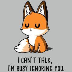 I& busy ignoring you - T-Shirt / Men / S - . - I& busy ignoring you – T-Shirt / Men / S – the - Cute Animal Quotes, Funny Animal Memes, Cute Funny Animals, Cute Quotes, Cute Baby Animals, Funny Memes, Cute Animals To Draw, Animal Humor, Cute Cartoon Drawings